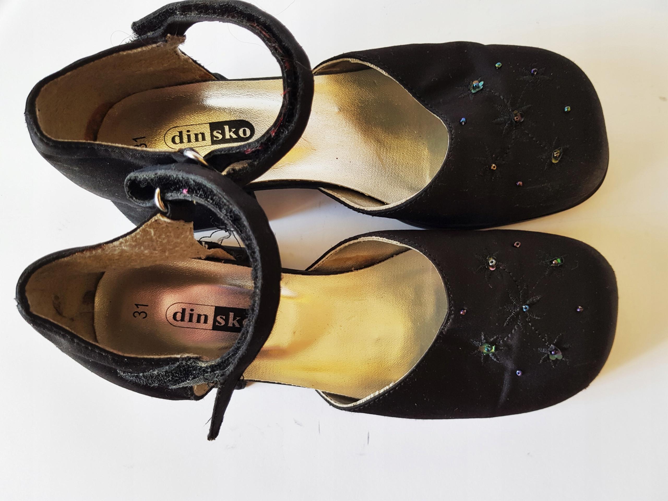DINSKO Szwedzkie eleganckie sandałki dziewczęce 31