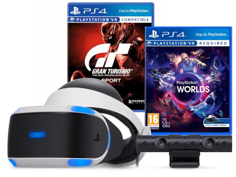 ZESTAW PS4 VR + KAMERA V2 + VR WORLDS + GT SPORT