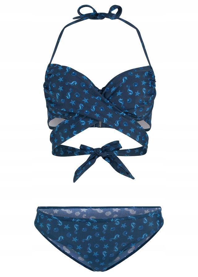 Bikini na fiszbinach 2 c niebieski 44 D XXL 914752
