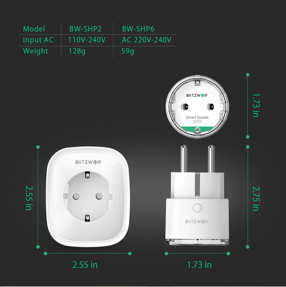 BlitzWolf BW-SHP6 WiFi Smart Home esp8266 - 7814453688 - oficjalne