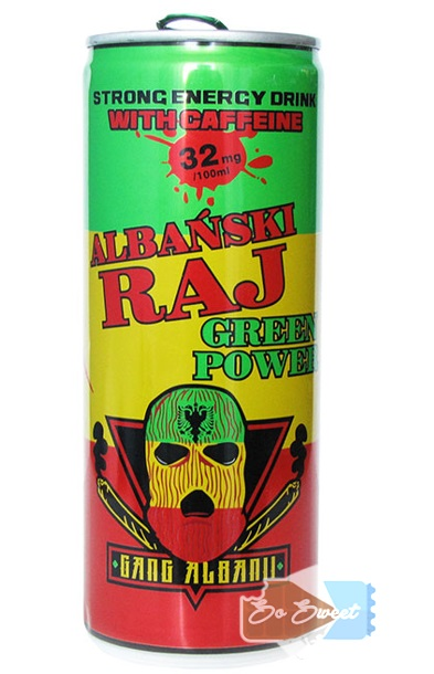 Green Power Gang Albani Energy Drink Albański RAJ