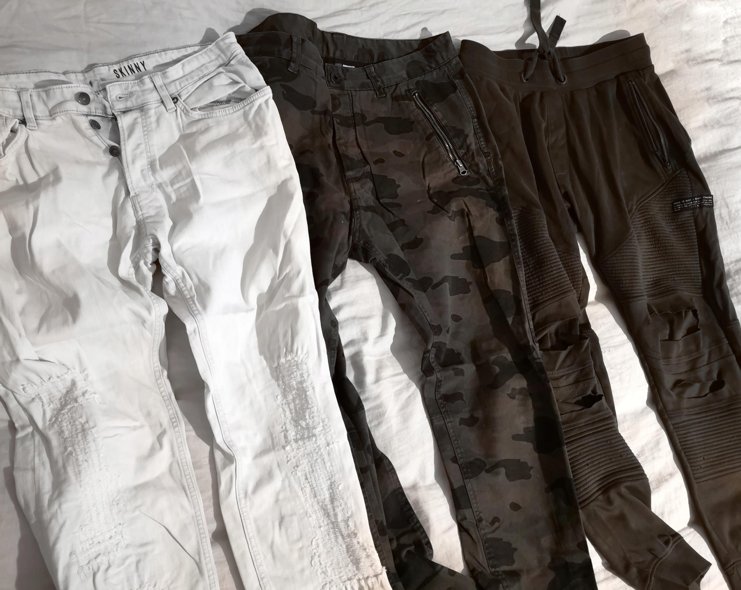 Markowe spodnie oraz jeansy Komplet