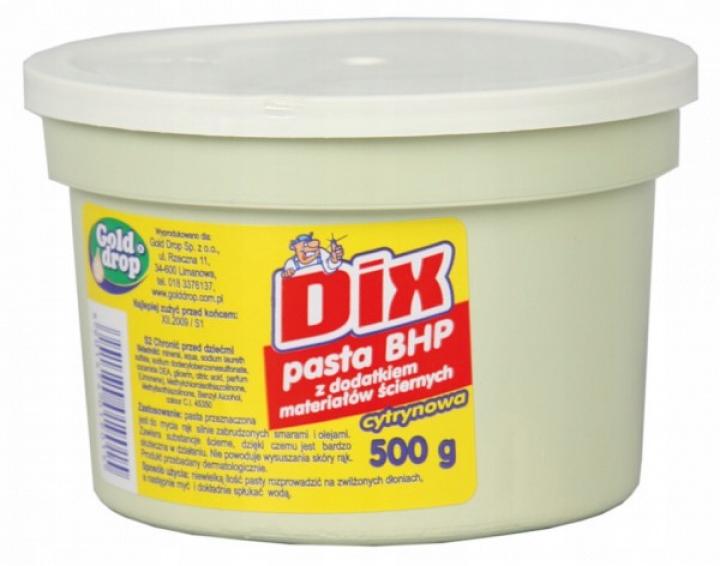 Pasta BHP ścierna DIX Gold Drop Cytrynowa 500g