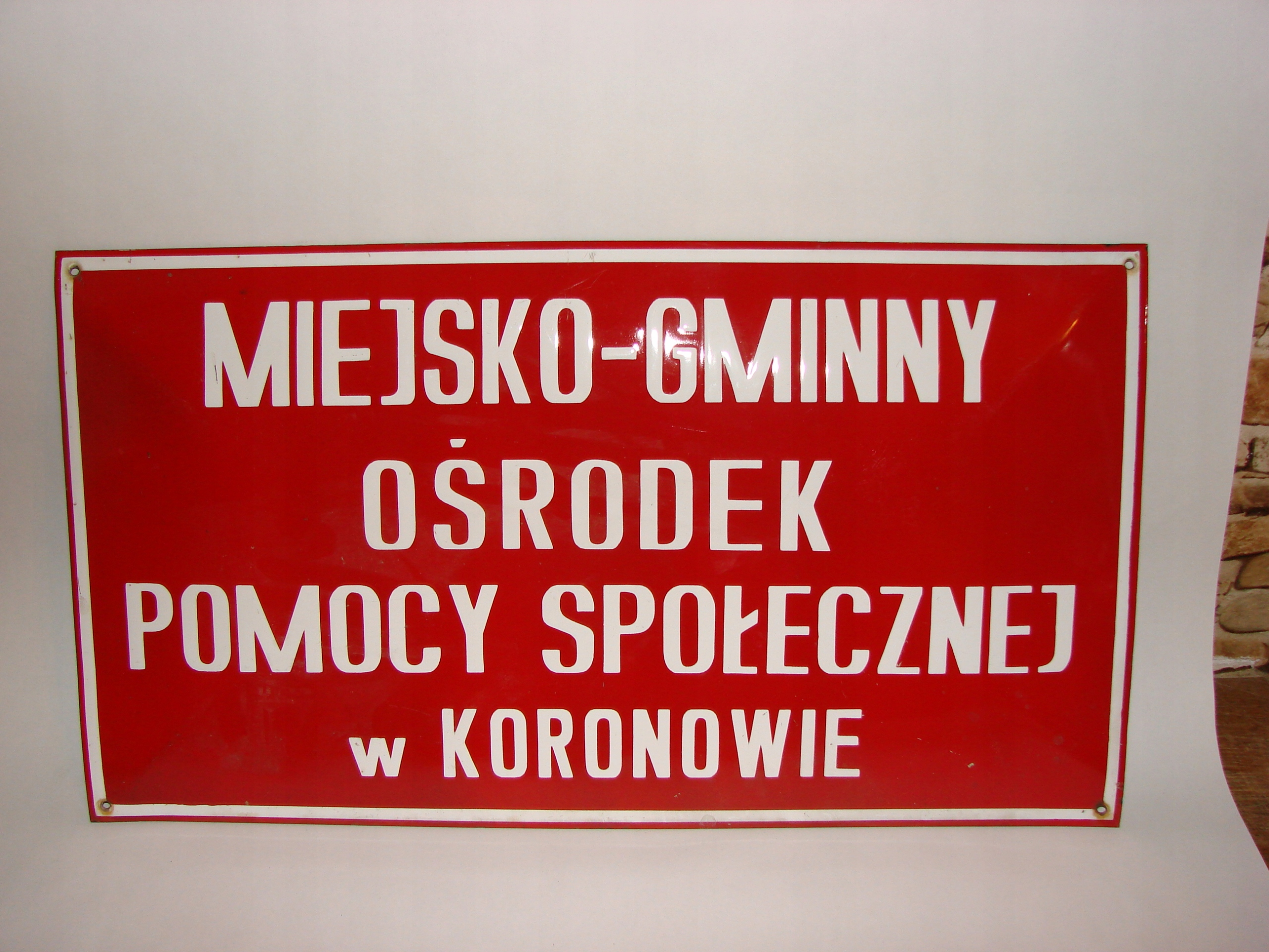 Stara metalowa reklama-Koronowo - 70x38,5