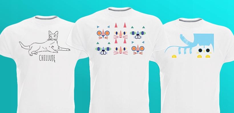 T-shirty z kotami, koty