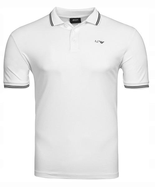 Koszulka Polo męska Armani Jeans White