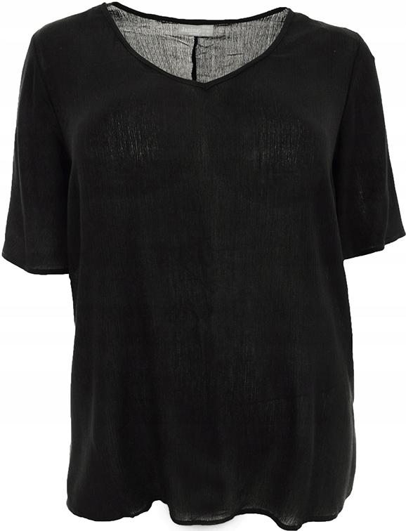 bYY1737 czarny klasyczny t-shirt 48