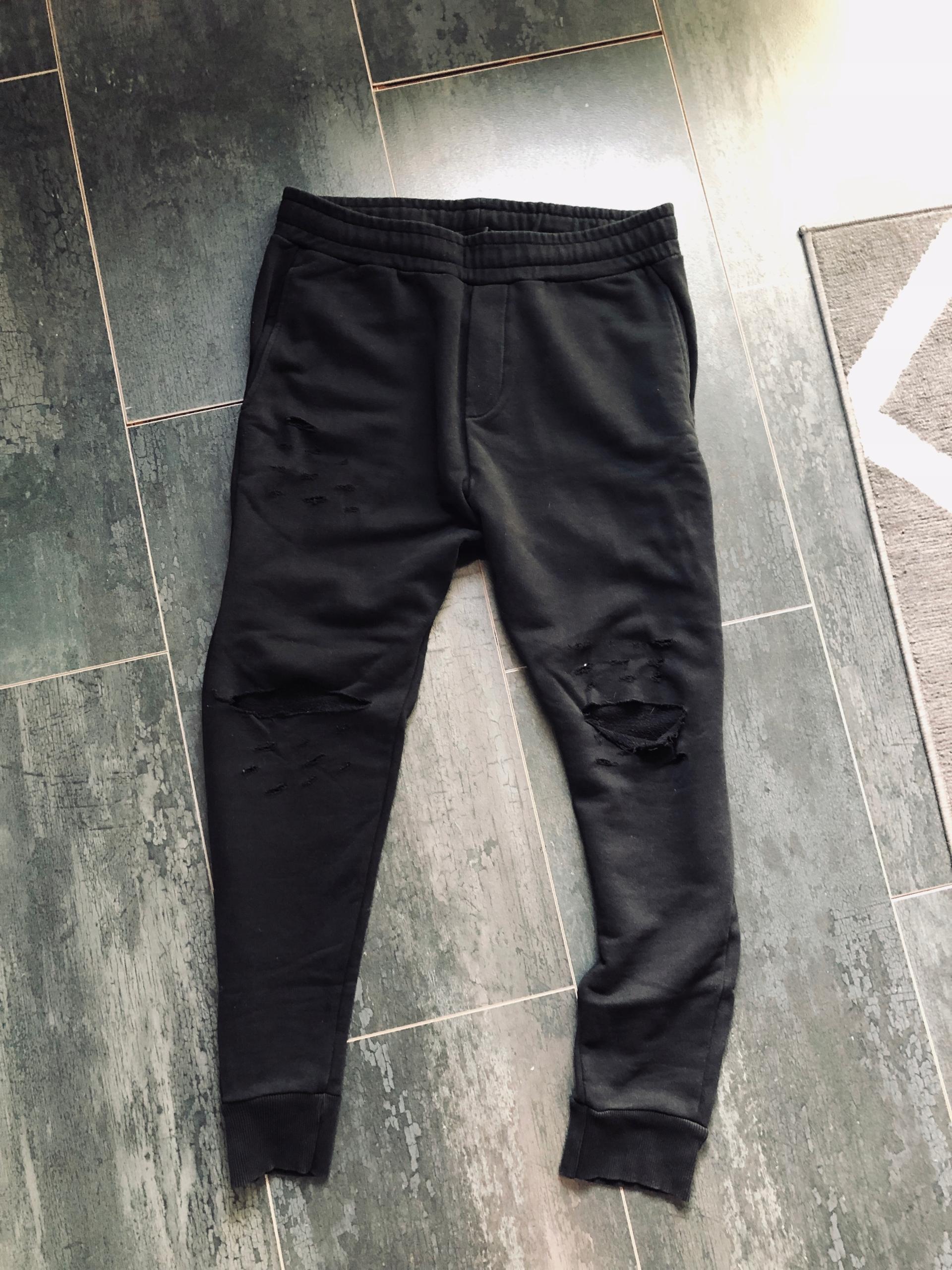 Spodnie z dziurami ZARA XL CZARNE