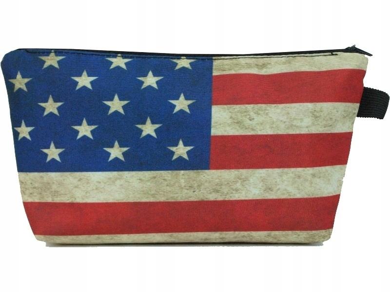 Piórnik Kosmetyczka Nadruk 3D Flaga USA HIT K32