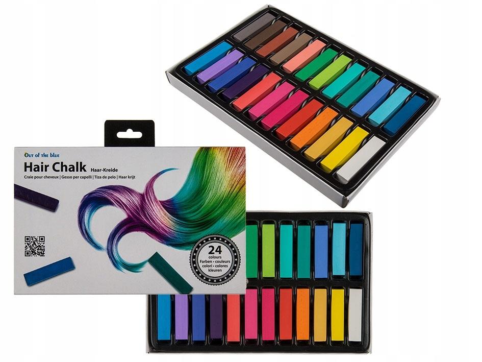 Kreda do kolorowania włosów - 24 kolory KARNAWAŁ