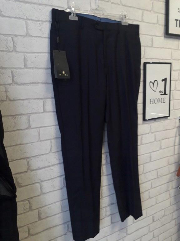 Massimo Dutti spodnie w kant granat 44