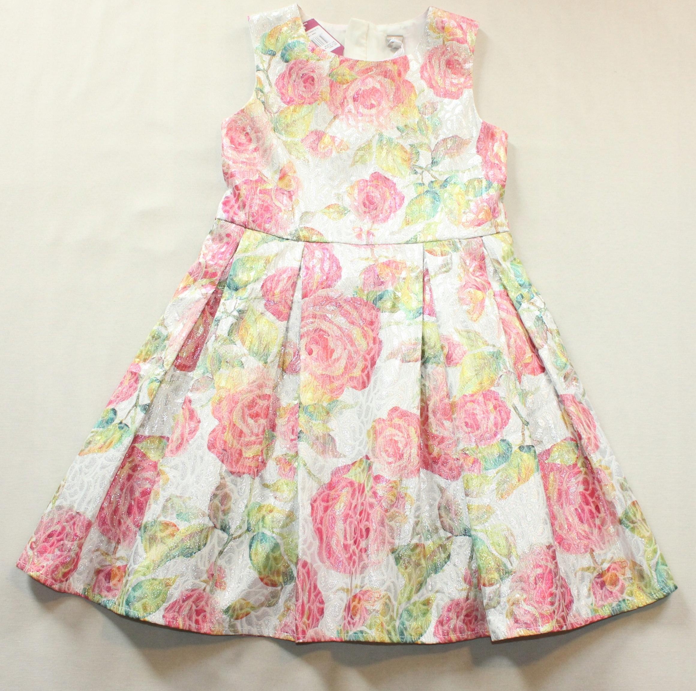 Nowa sukienka TU mieniące się kwiaty r 128