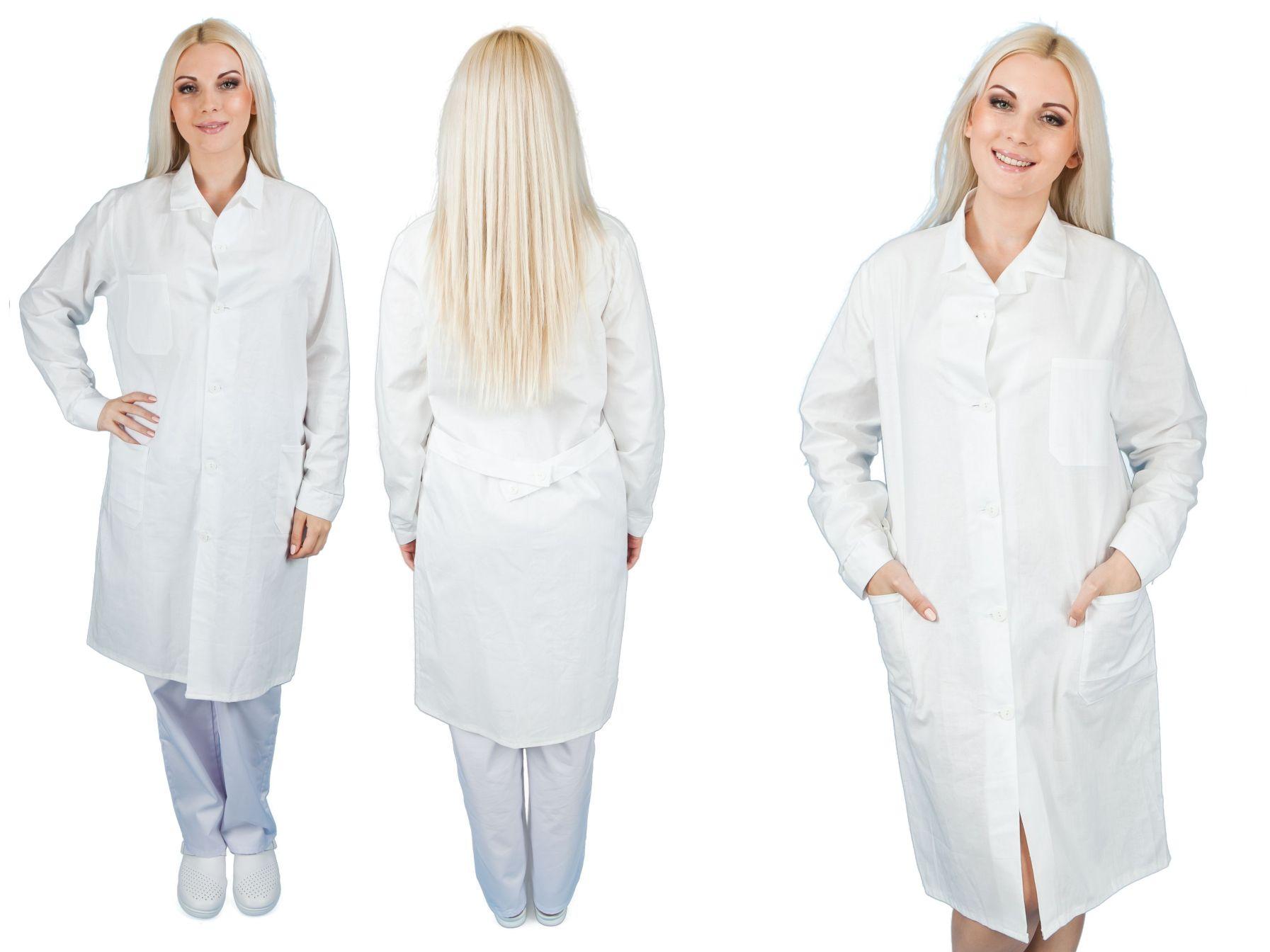 Fartuch medyczny laboratoryjny M damski 100% baw
