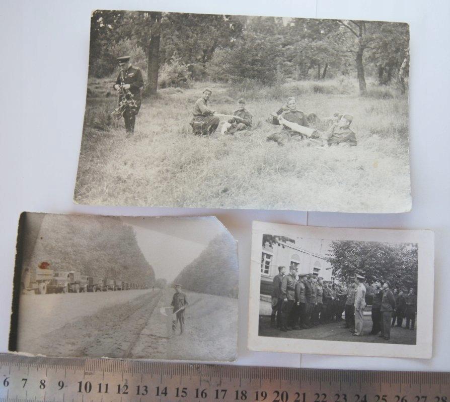 3 x Stare zdjęcie wojsko poligon konwój ZSRR