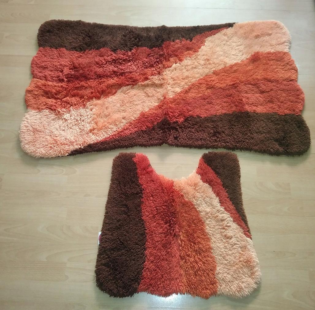 komplet dywaników łazienkowych 111x70 52x55cm włos