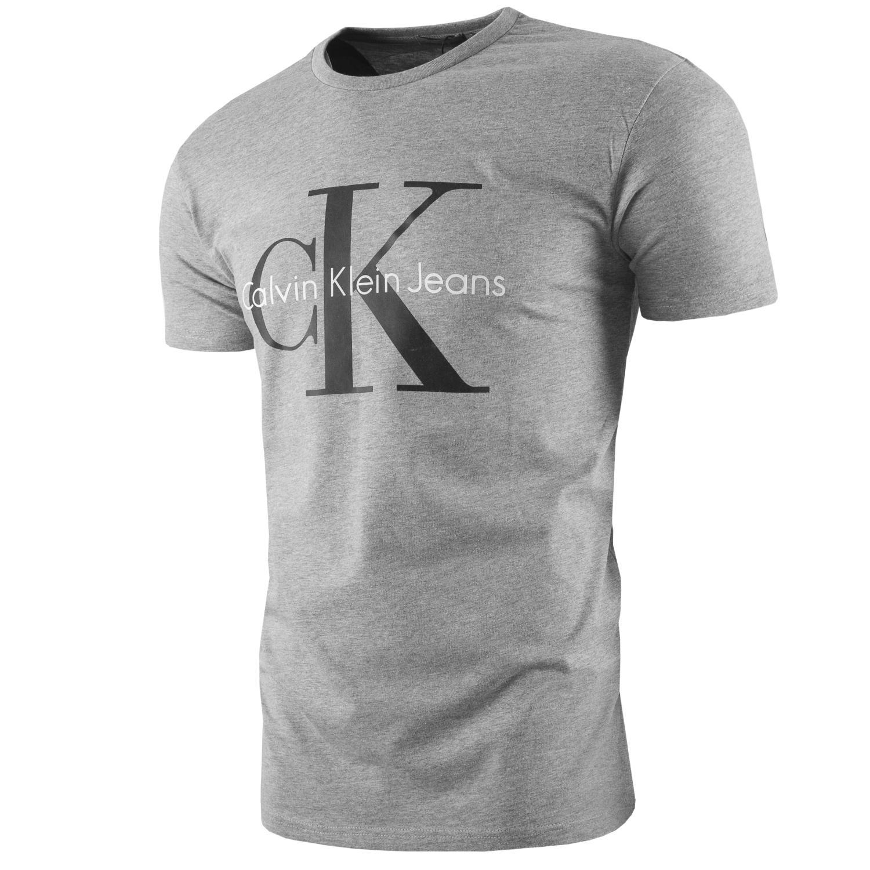 KOSZULKA T-SHIRT CALVIN KLEIN [XL] SZARY