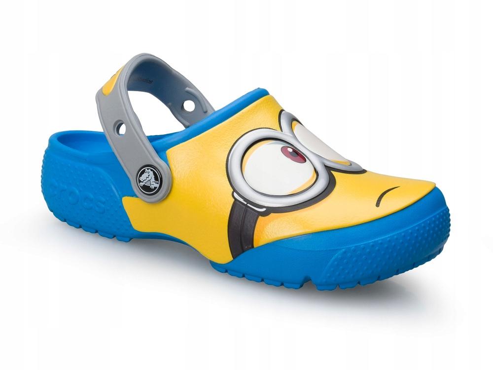 Crocs gumowe klapki MINIONKI dziecięce 204113-456