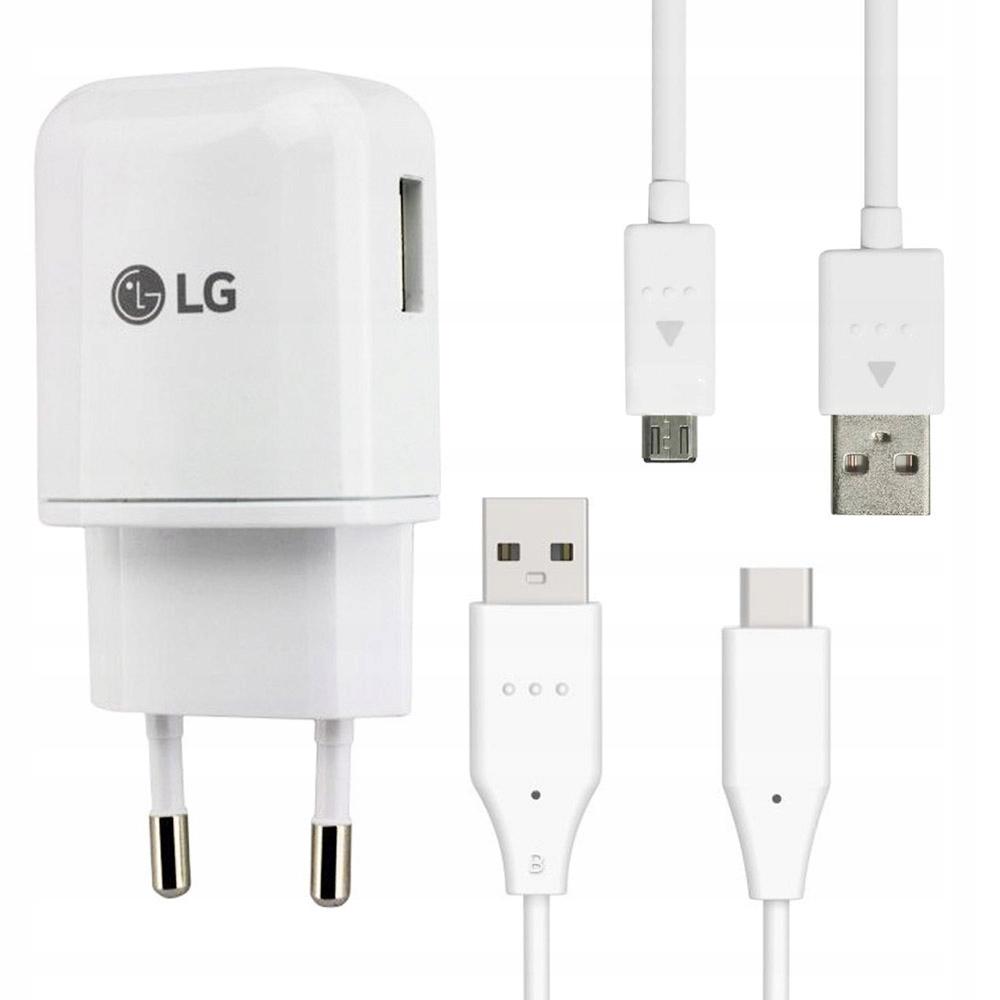 LG G3 G4   Ładowarka sieciowa + microUSB + USB-C