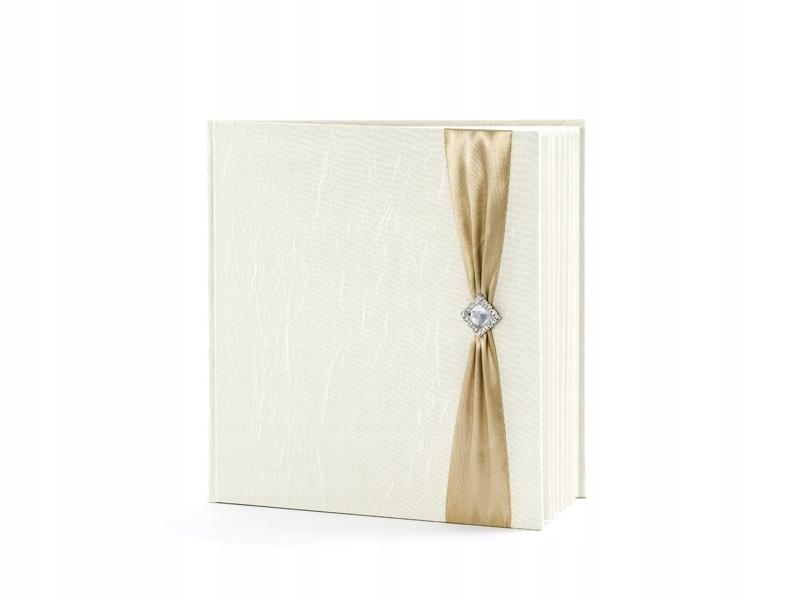Kremowa Księga Wpisów Gości Ślub Wesele 22 Kartki