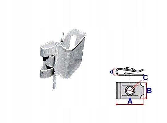 Zabezpieczenie mocowania tłumika Mercedes