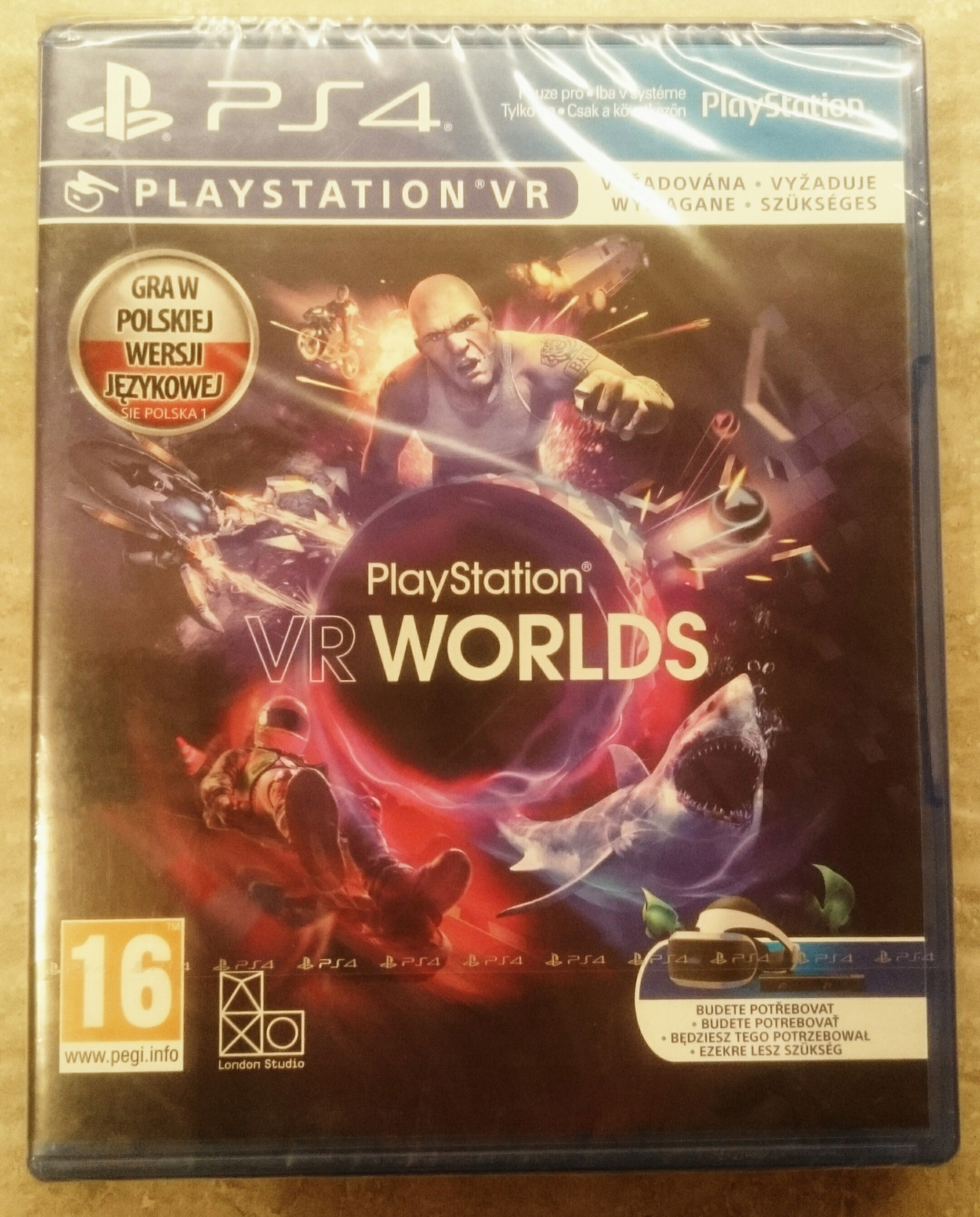 VR Worlds PS4 Po Polsku Nowa Folia
