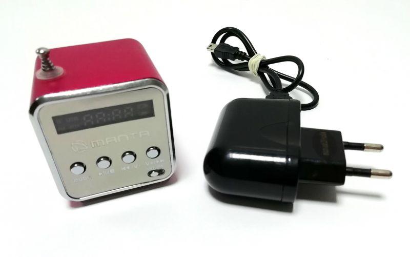 RADIO PRZENOŚNE MANTA CUBE FM MM420 GŁOŚNIK USB S