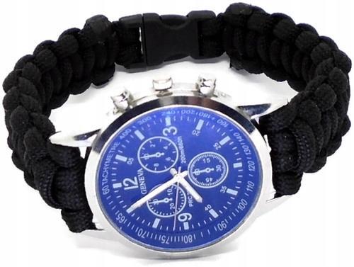 zegarek męski z paskiem z paracordu