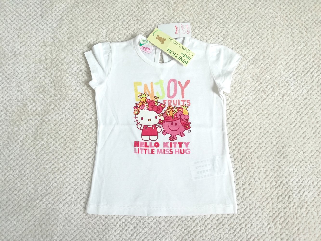 BENETTON Nowy t-shirt HELLO KITTY 74 80