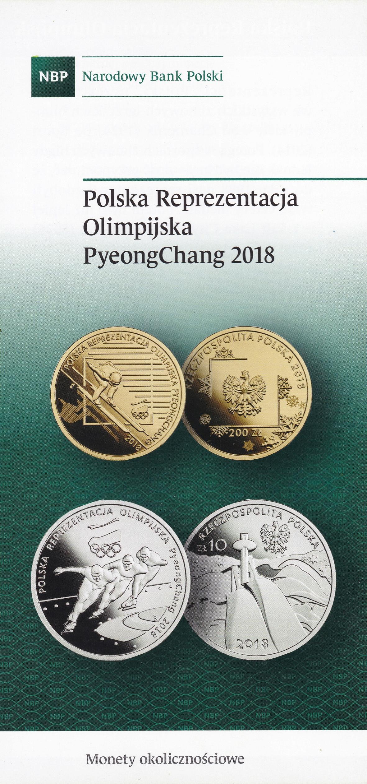 Foldery monet kolekcjonerskich z roku 2018- 4 szt.
