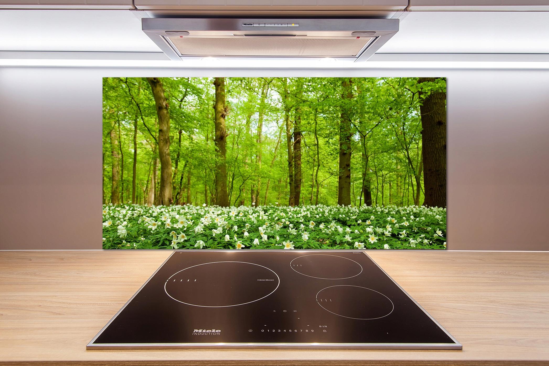 Panel do kuchni Kwiaty w lesie 100x50 cm + KLEJ
