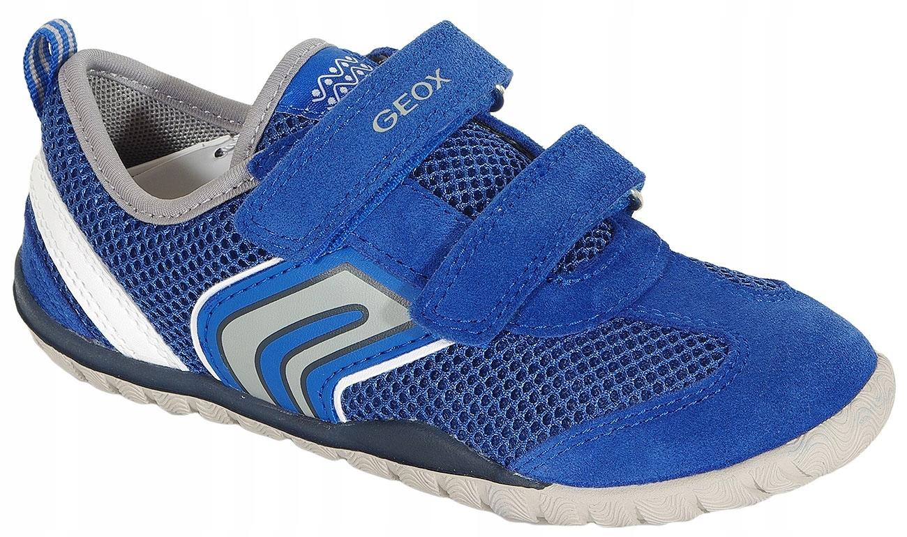 GEOX Trifon B sneakers mesh+suede royal/white 31