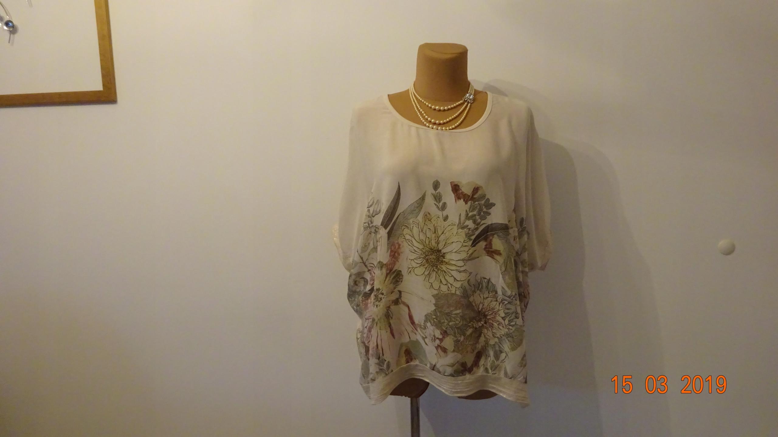 MADE IN ITALY bluzka duża modna wiskoza 2XL/3XL