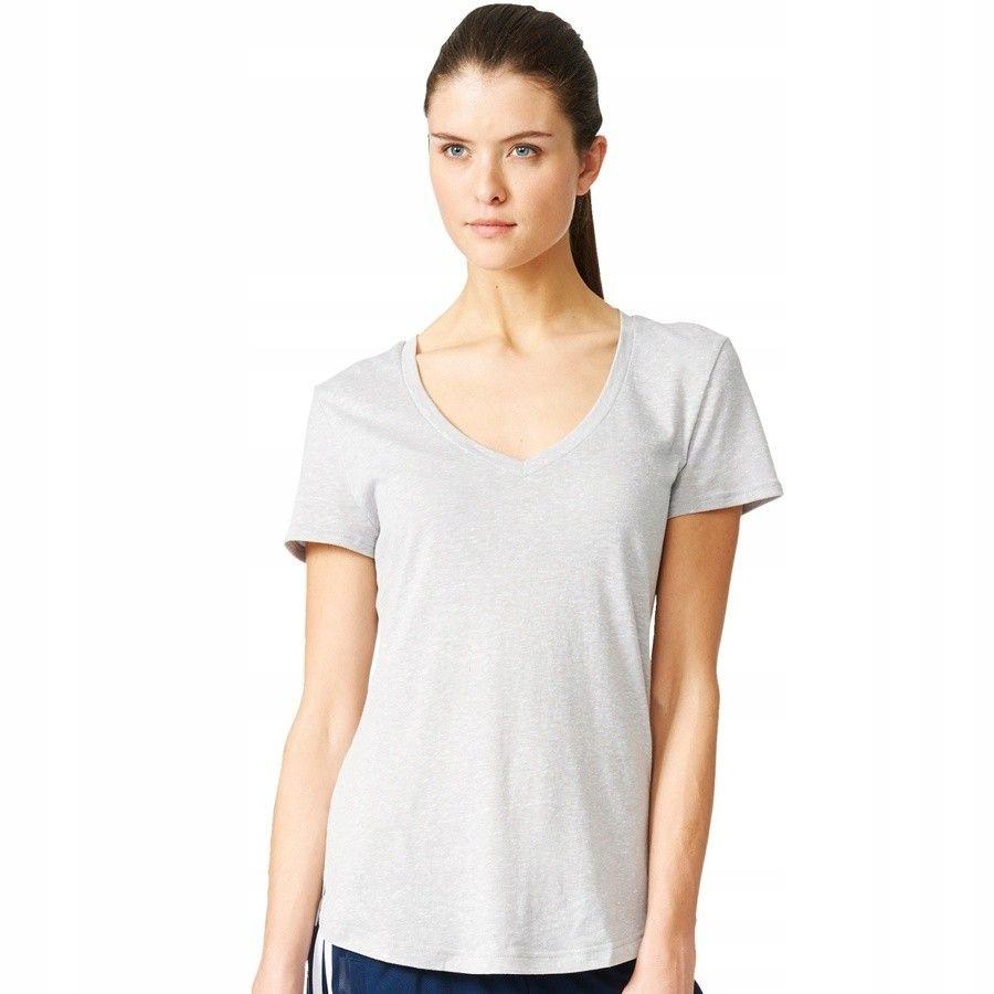 Koszulka adidas Logo V-Tee AY0176 - SZARY; XS