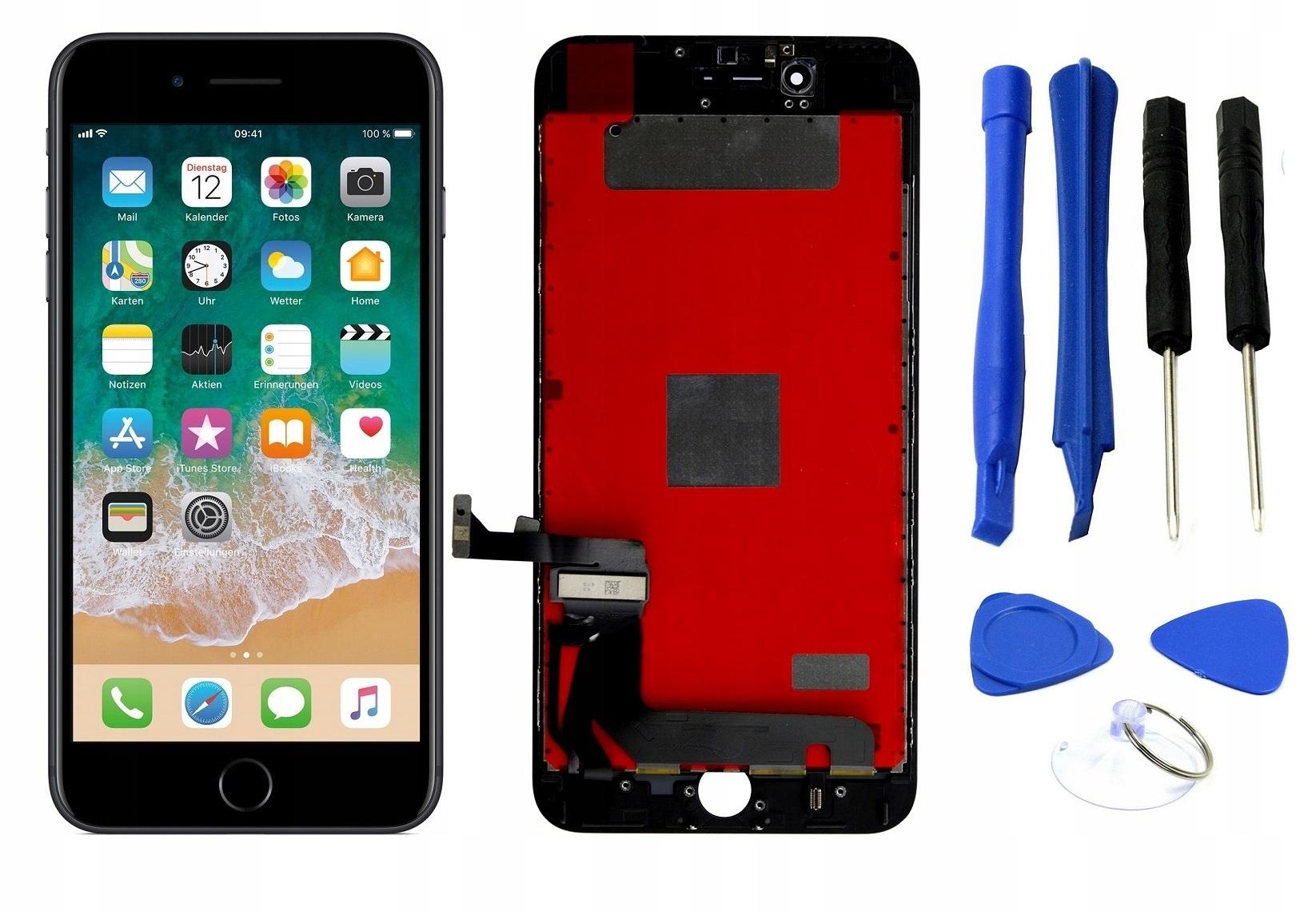 IPHONE 7+ 7 PLUS WYŚWIETLACZ LCD +DIGITIZER CZARNY