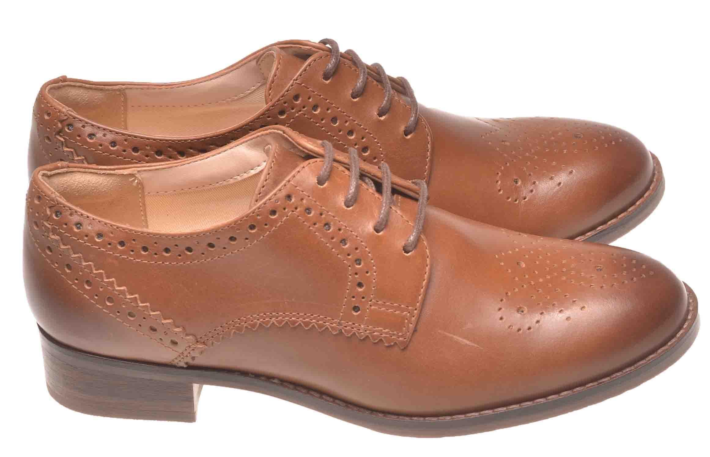 WYPRZEDAŻ!! CLARKS NETLEY ROSE Tan Leather 40