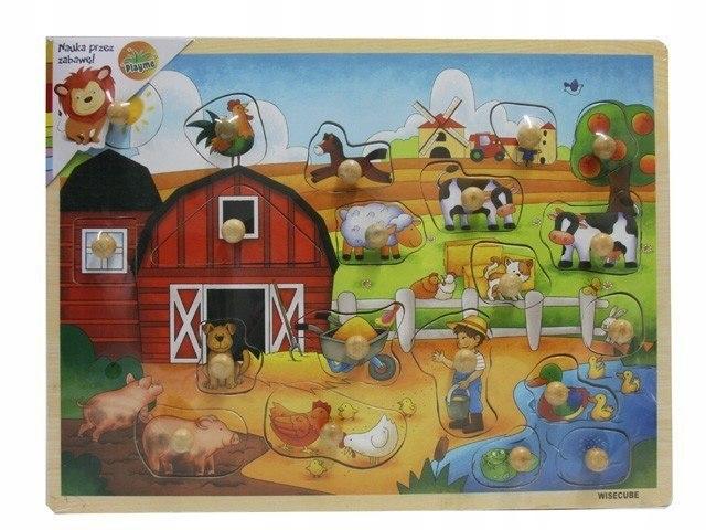 Ukladanka z pinezkami - Farma
