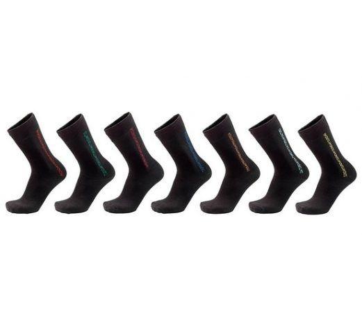 Skarpety 7 par 41/46 męskie czarne wzór kolorowy