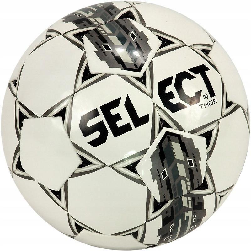 SELECT piłka nożna THOR biało-szara rozmiar 4