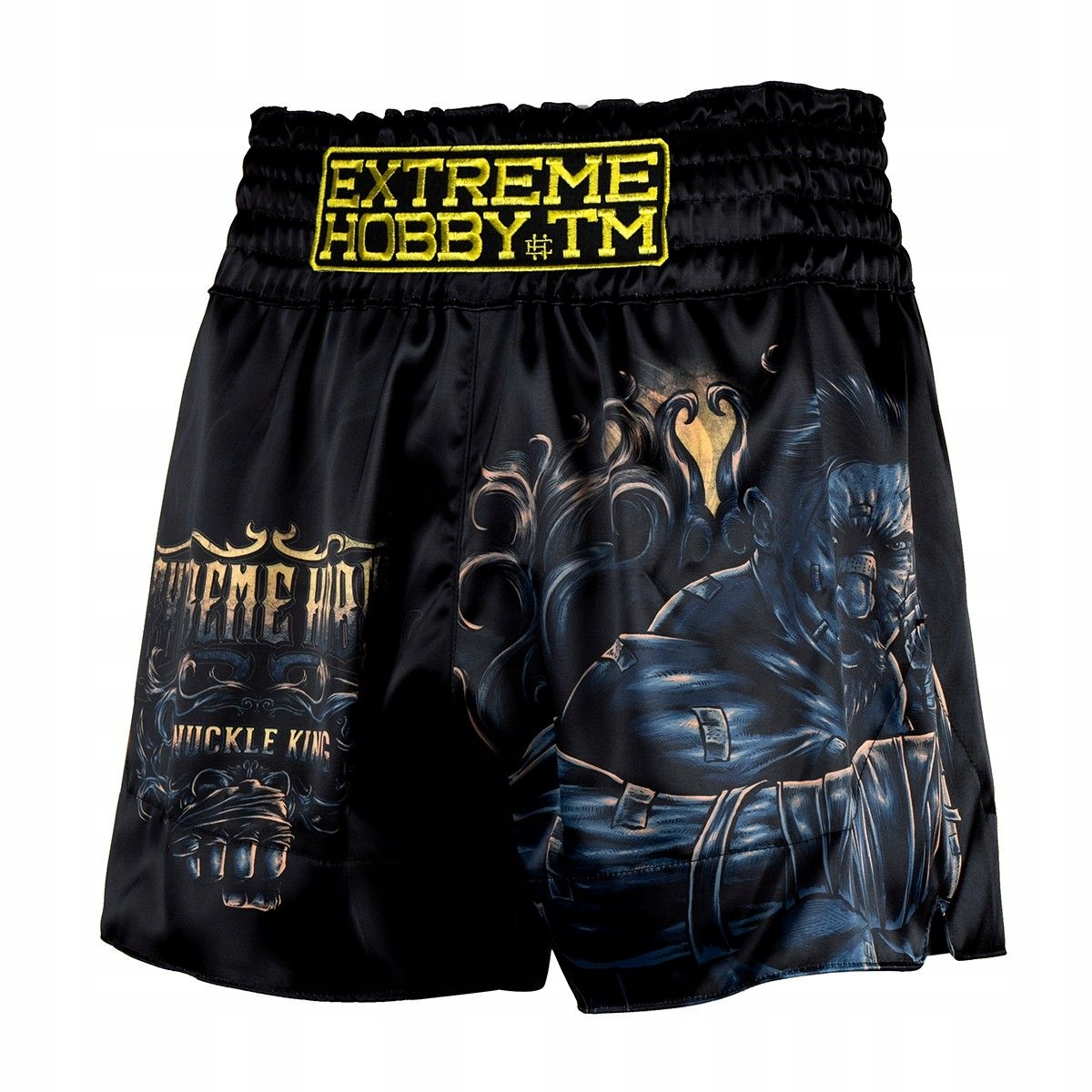 Spodenki muay thai KNUCKLE KING Extreme Hobby L