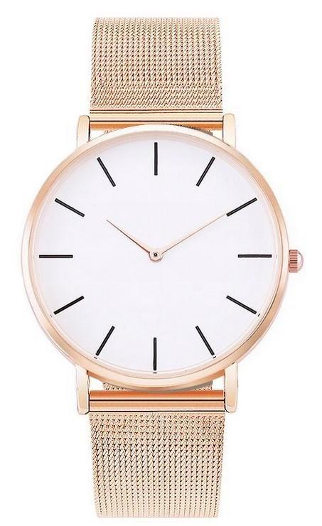 Zegarek Damski Klasyczny Mesh Rose Gold