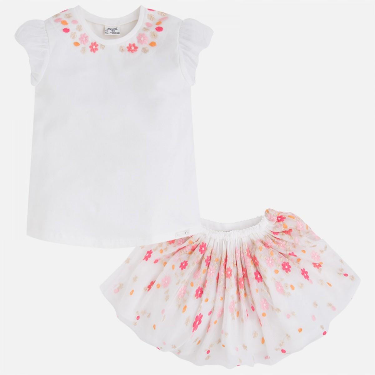 Komplet spódnica haft kwiaty Mayoral roz. 104cm