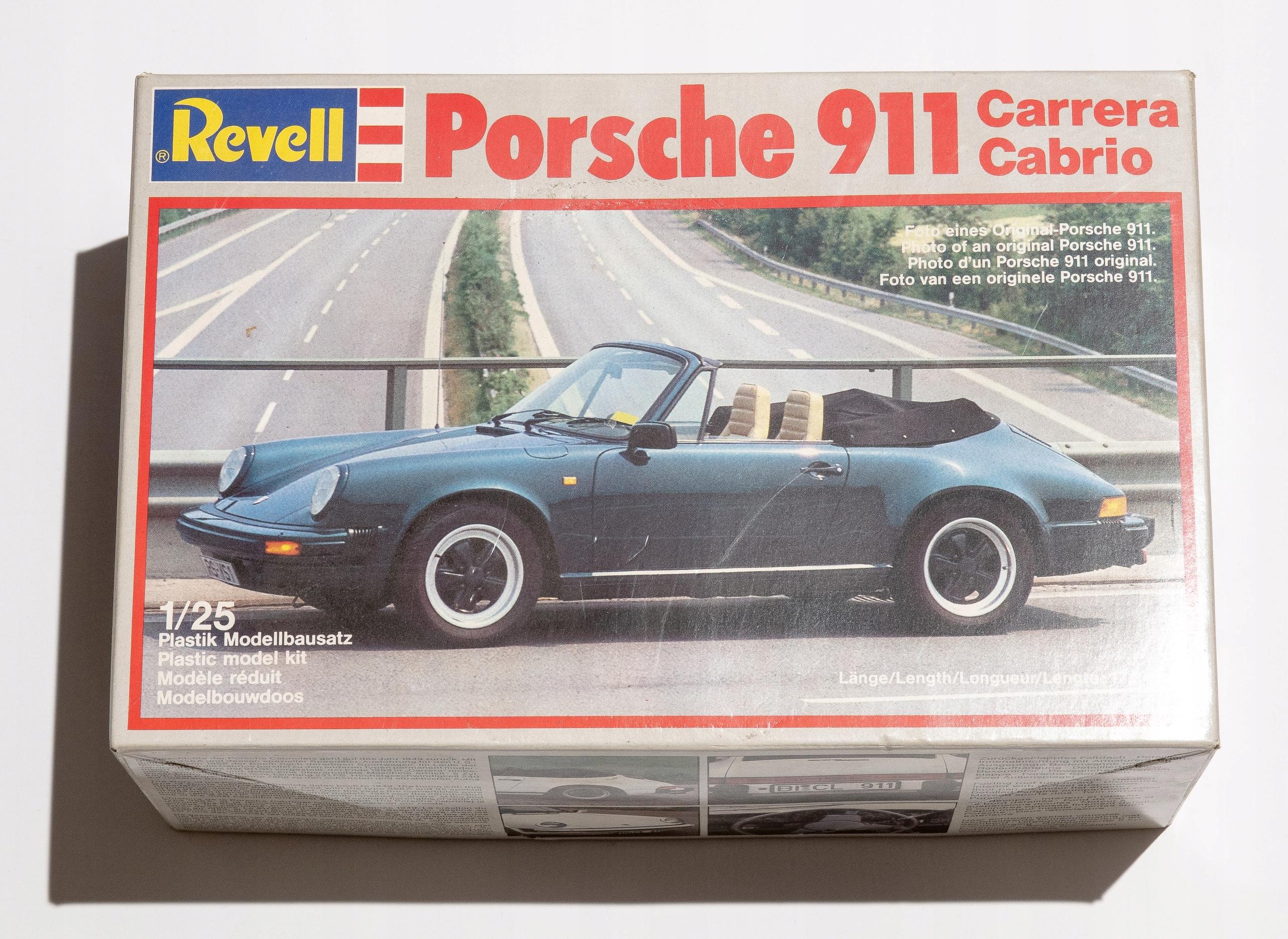 PORSCHE 911 Carrera Cabrio 1988 Revell skala 1:25