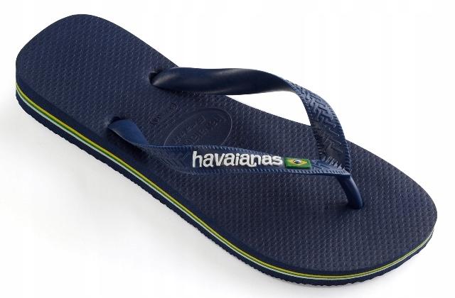 Havaianas Brasil Logo 35/36 navy blue japonki %%%%