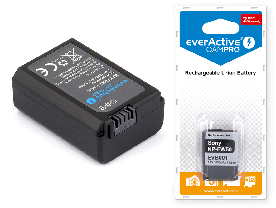 Bateria everActive do SONY NEX-5CK NEX-5D