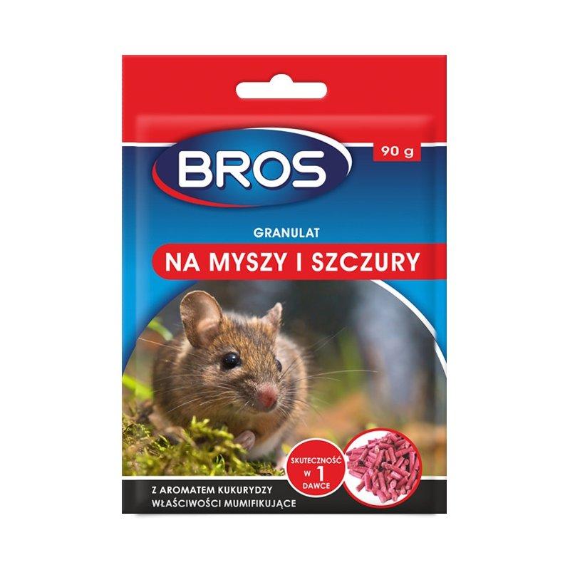 Trutka na myszy,szczury granulat firmy Bros 90g