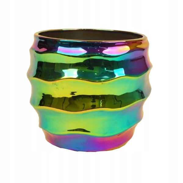 Doniczka Osłonka Ceramiczna Tęczowa Kolorowa 7813623922