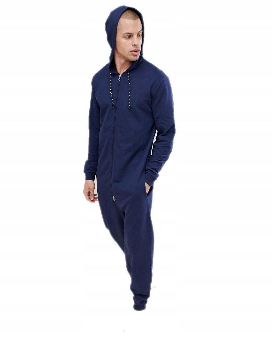 ONESIE kombinezon męski GRANATOWY piżama DRES 2XL
