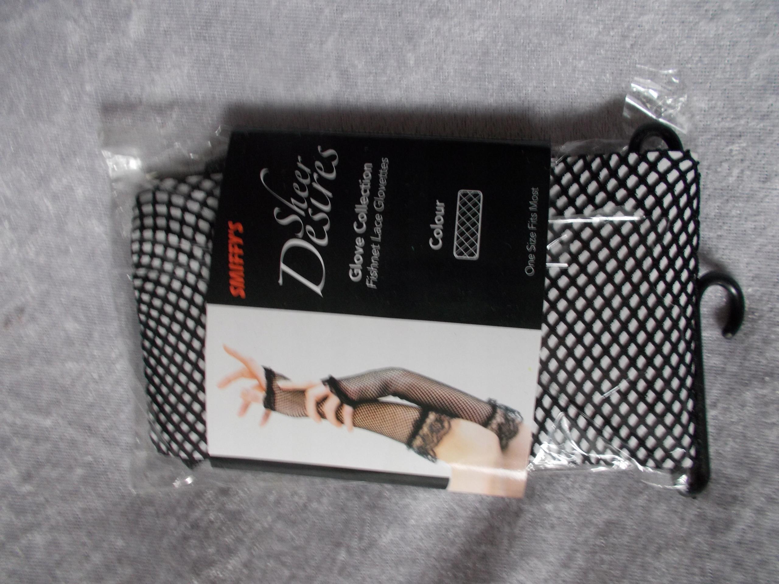 rękawiczki ELEGANCKIE, koronkowe czarne-