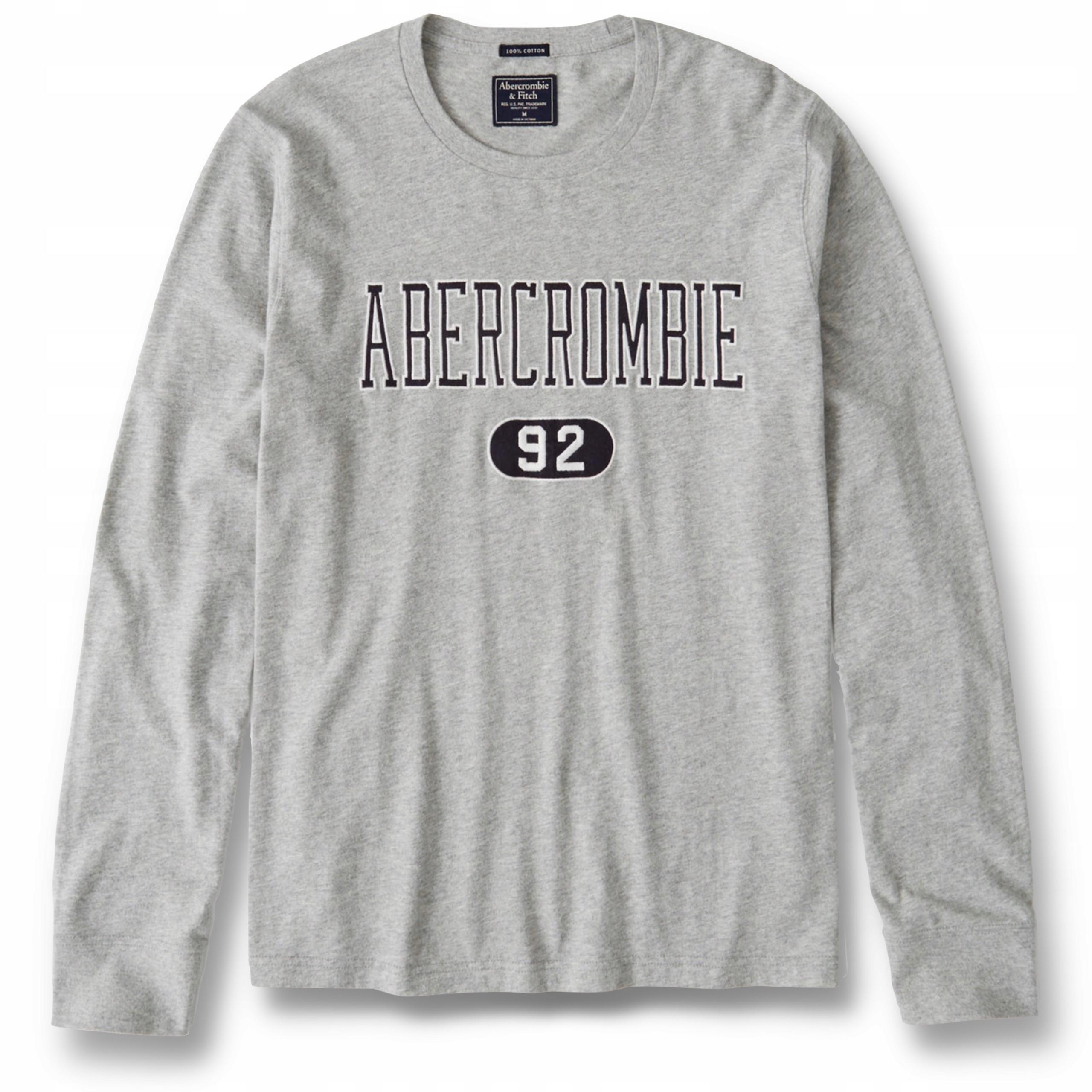 T-shirt męski Long-Sleeve Logo Tee ABERCROMBIE XL