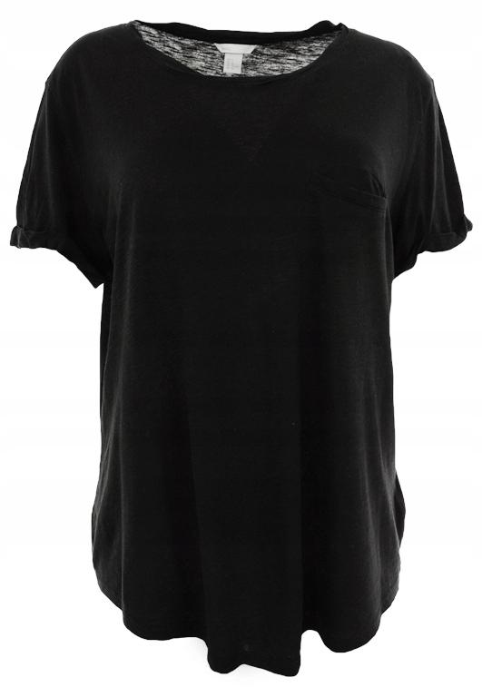lMM3404 H&M basic czarny klasyczny t-shirt 52